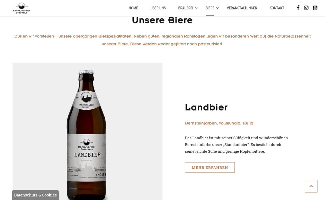 Übersichtsseite Biere