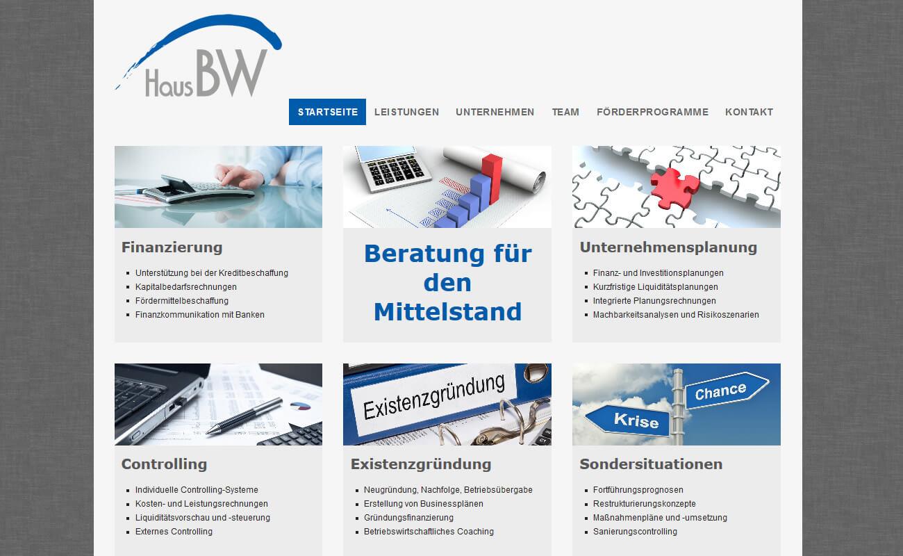 Startseite der Homepage